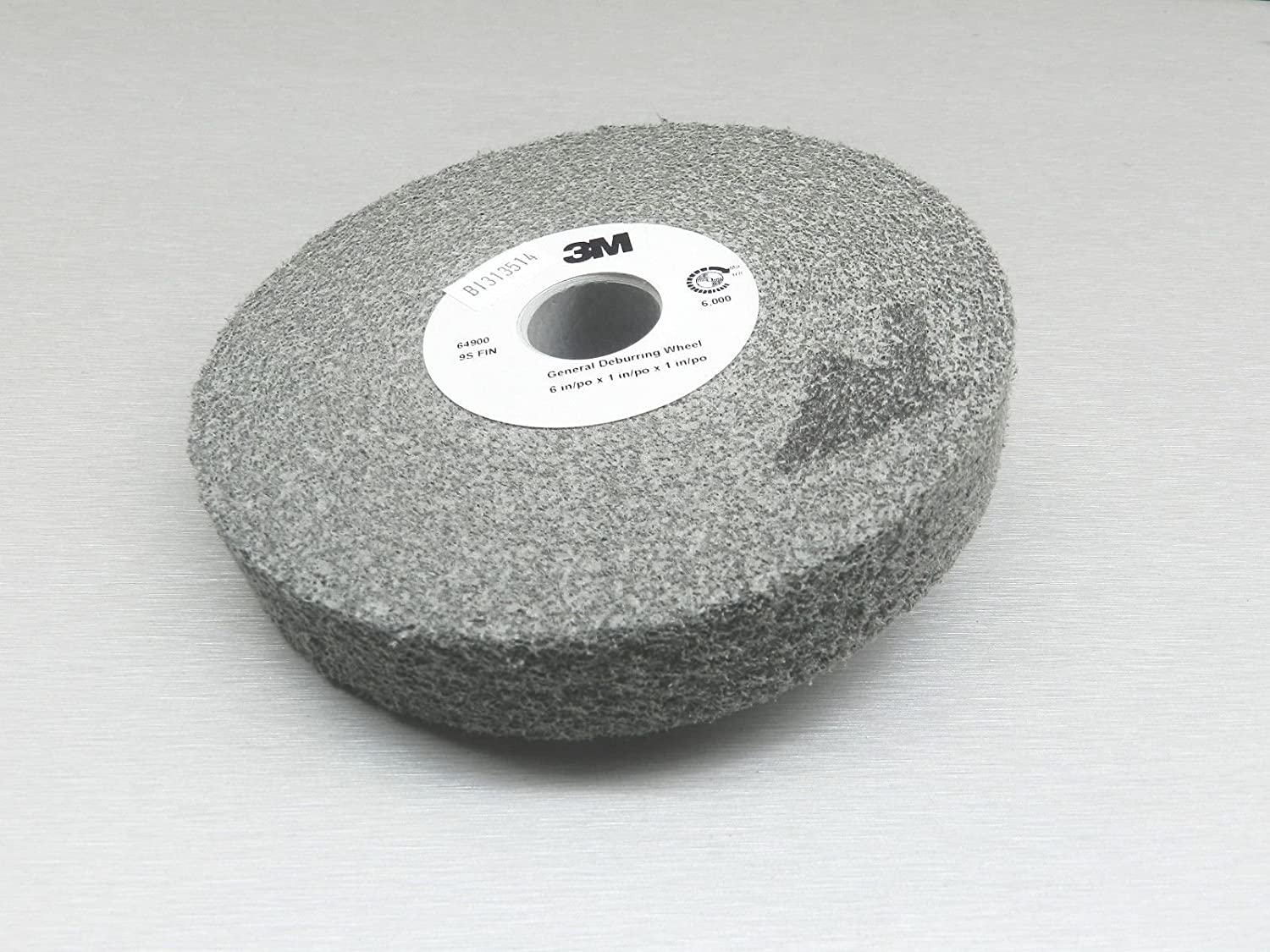 6 in x 1//2 in x 1 in 9S FIN GD-WL 3M You are purchasing the Min order quantity which is 1 Wheels General Deburring Wheel