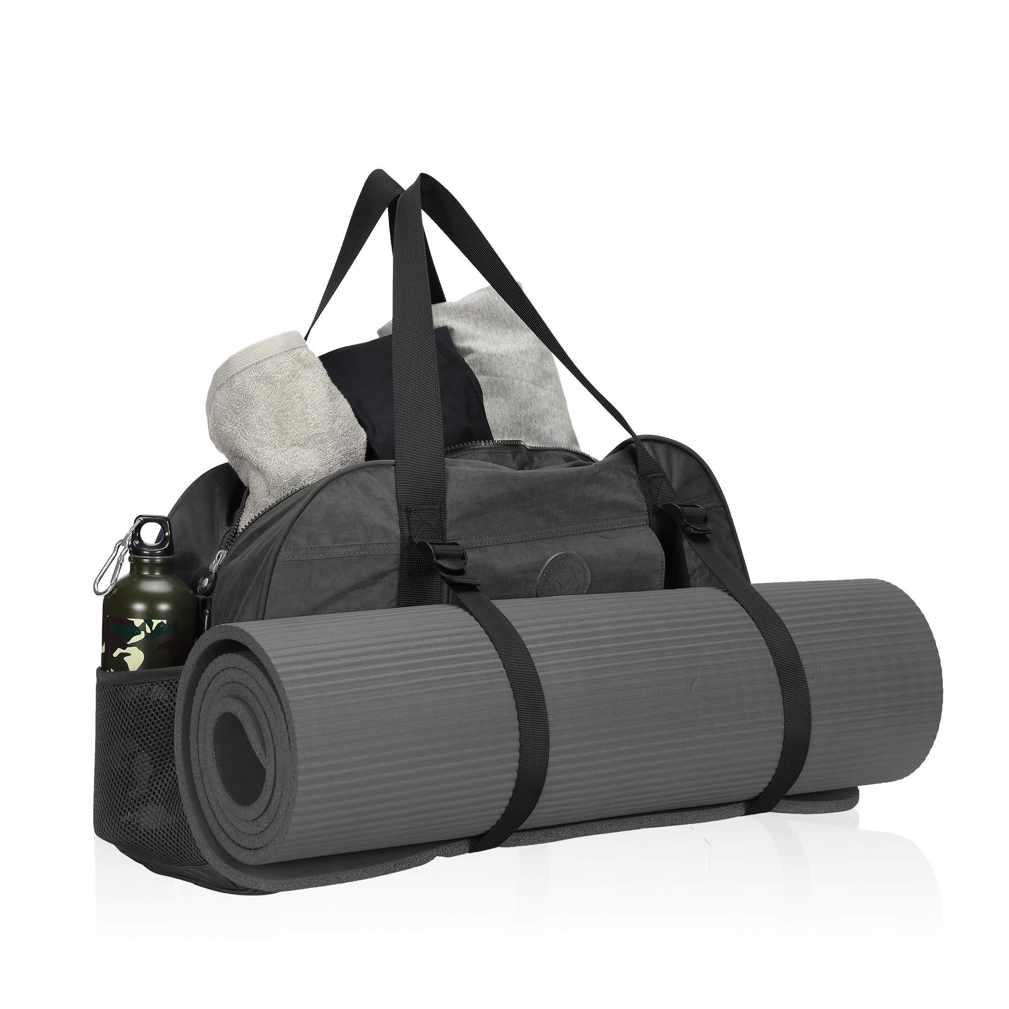 Hynes Eagle Yoga Mat Bag Sport Duffel for Gym Travel Bag 35L Grey 2018
