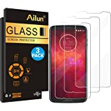 Ailun Screen Protector Compatible Moto Z3 Play [3 Pack] Tempered Glass,9H Hardness,Ultra Clear,Bubble Free,Anti-Scratch&Fingerprint&Oil Stain Coating,Case Friendly
