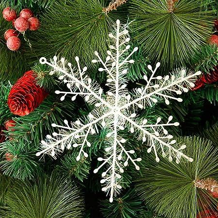 HE FEN HAN HAN 30 Piezas para decoraci/ón de Fiestas Adornos de Navidad de Madera Bodas y /árboles de Navidad dise/ño de Copo de Nieve