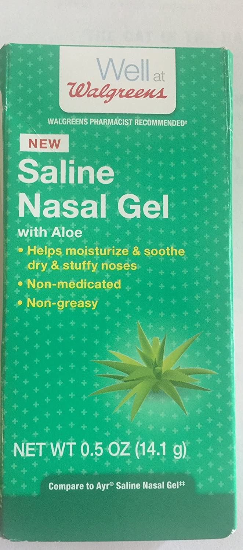 amazon com walgreens saline nasal gel with aloe 0 5 oz 14 1g