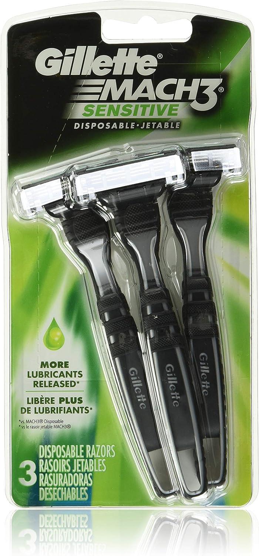 Gillette Mach3 - Maquinilla de afeitar desechable, Sensitive 3 Ea ...