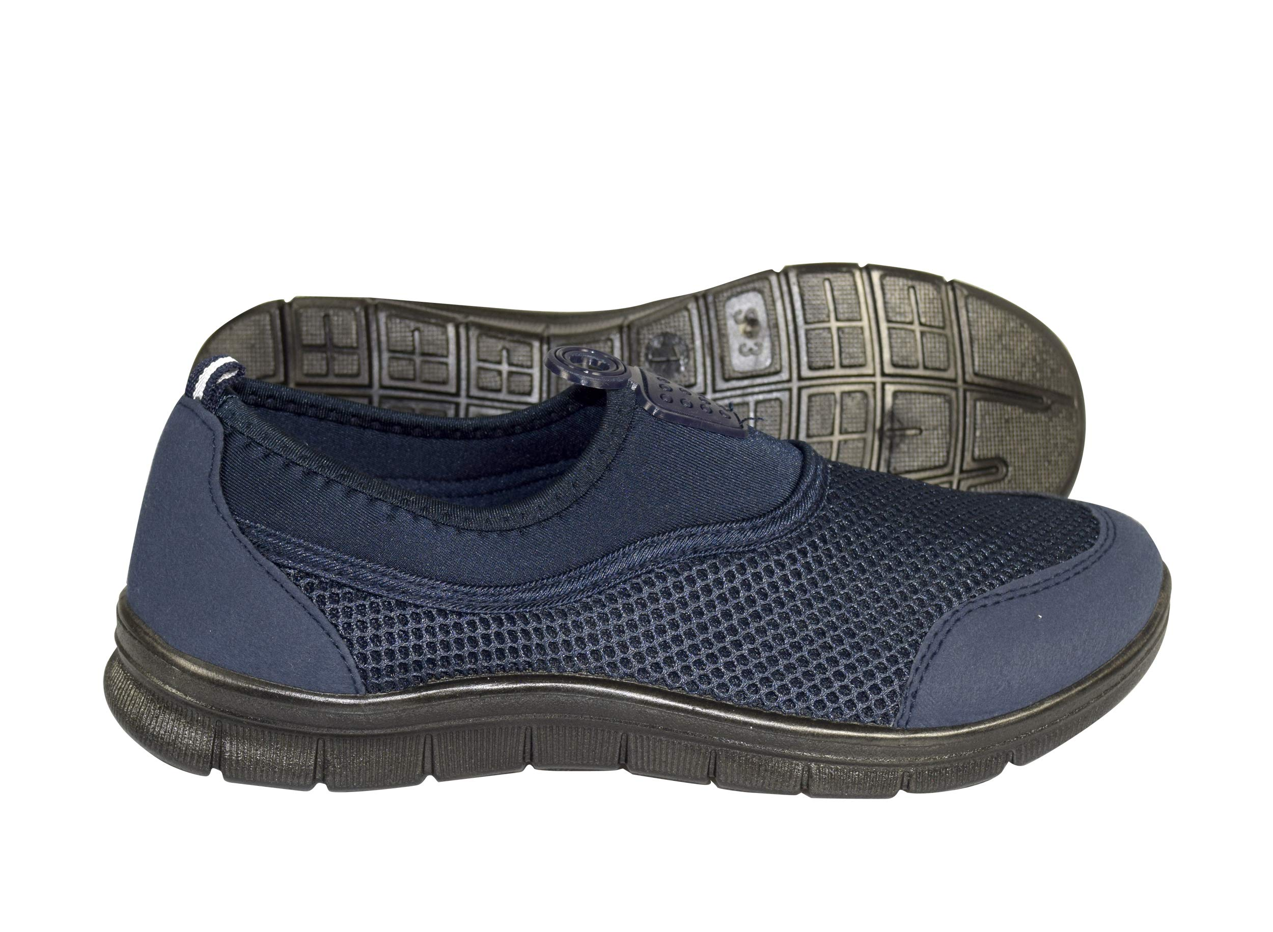 Peach Couture Easy Slip On No Lace Women's Sport Shoes Running Lightweight Sneakers Navy, 10
