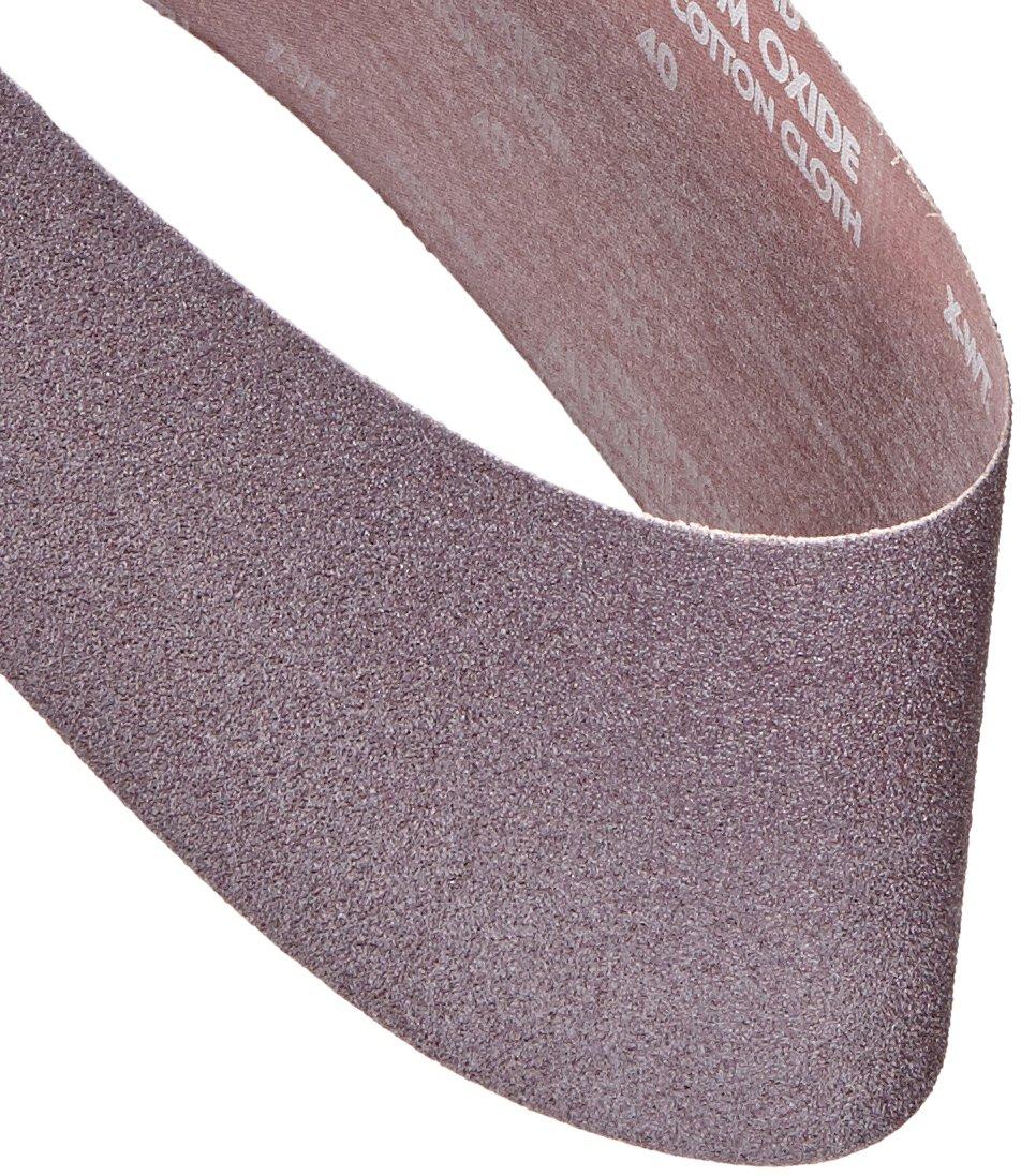 Norton 78072727986 BenchStand Abrasive Belt, Cotton Fiber Backing, Aluminum Oxide, 48'' Length x 6'' Width, Grit 40X Extra Coarse (Pack of 10)