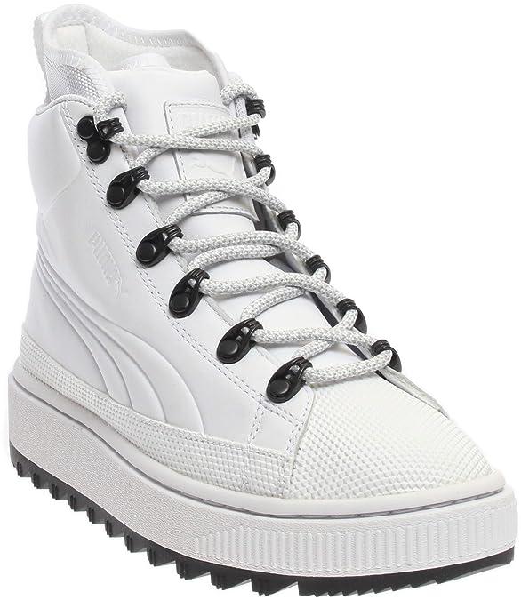 PUMA Boys The Ren Junior Casual Boots, White, 7
