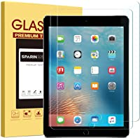 """[2 Pack] New iPad 9.7"""" (2018 & 2017) / iPad Pro 9.7 / iPad Air 2 / iPad Air Screen Protector, SPARIN Tempered Glass Screen Protector - Apple Pencil Compatible/High Definition/Scratch Resistant"""