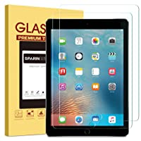"""[2 Pack] New iPad 9.7"""" (2018 & 2017) / iPad Pro 9.7 / iPad Air 2 / iPad Air Screen Protector, SPARIN Tempered Glass Screen Protector - Apple Pencil Compatible / High Definition / Scratch Resistant"""