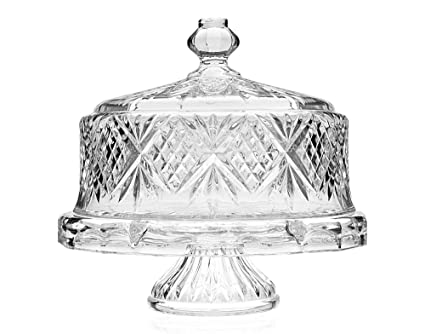 0f7e83a1682a Image Unavailable. Image not available for. Color  Shannon Crystal Cake  Stand Dome ...