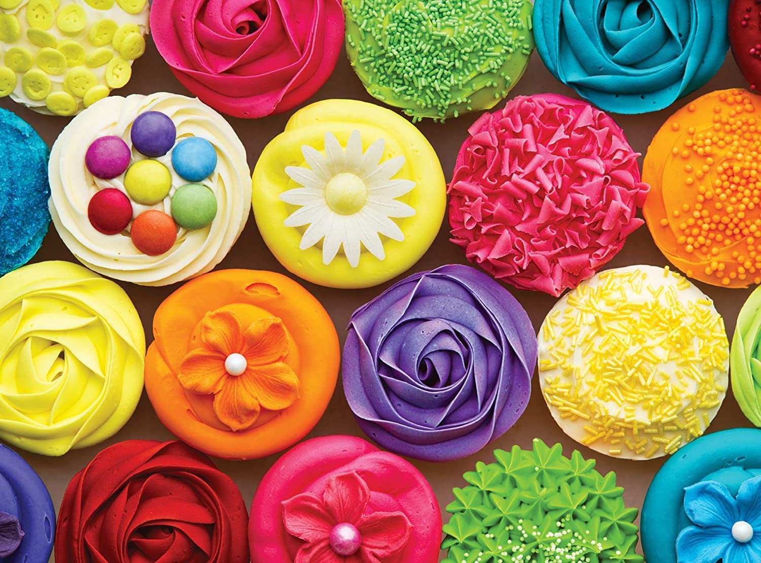 Colorcraft 1000 Piece Jigsaw Puzzle for Adults, Cool Cupcakes