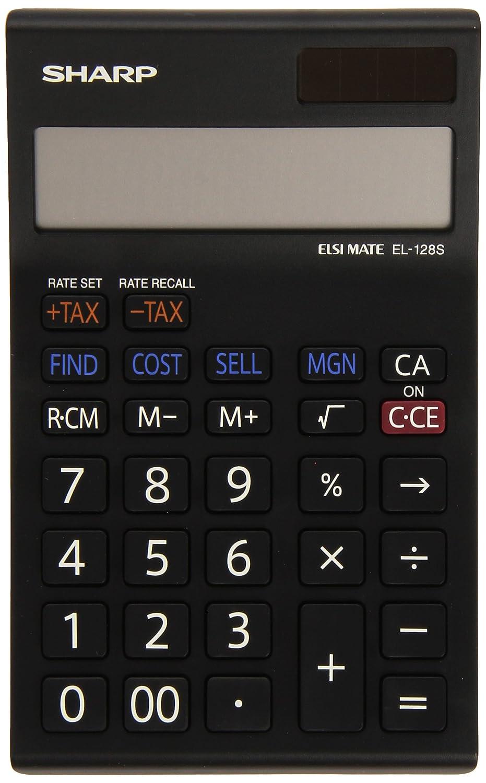 Sharp Electronics EL128SWH - Calcolatrice a 12 cifre, calcolo costo-vendita-margine, bianco/nero Sharp Electronics (Europe) GmbH