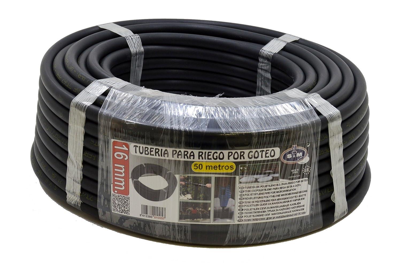 614484bfe2a163 S M S   M 010057 - Tuyau pour arrosage en goutte à goutte, 16 mm x 50 m,  couleur noir  Amazon.fr  Jardin