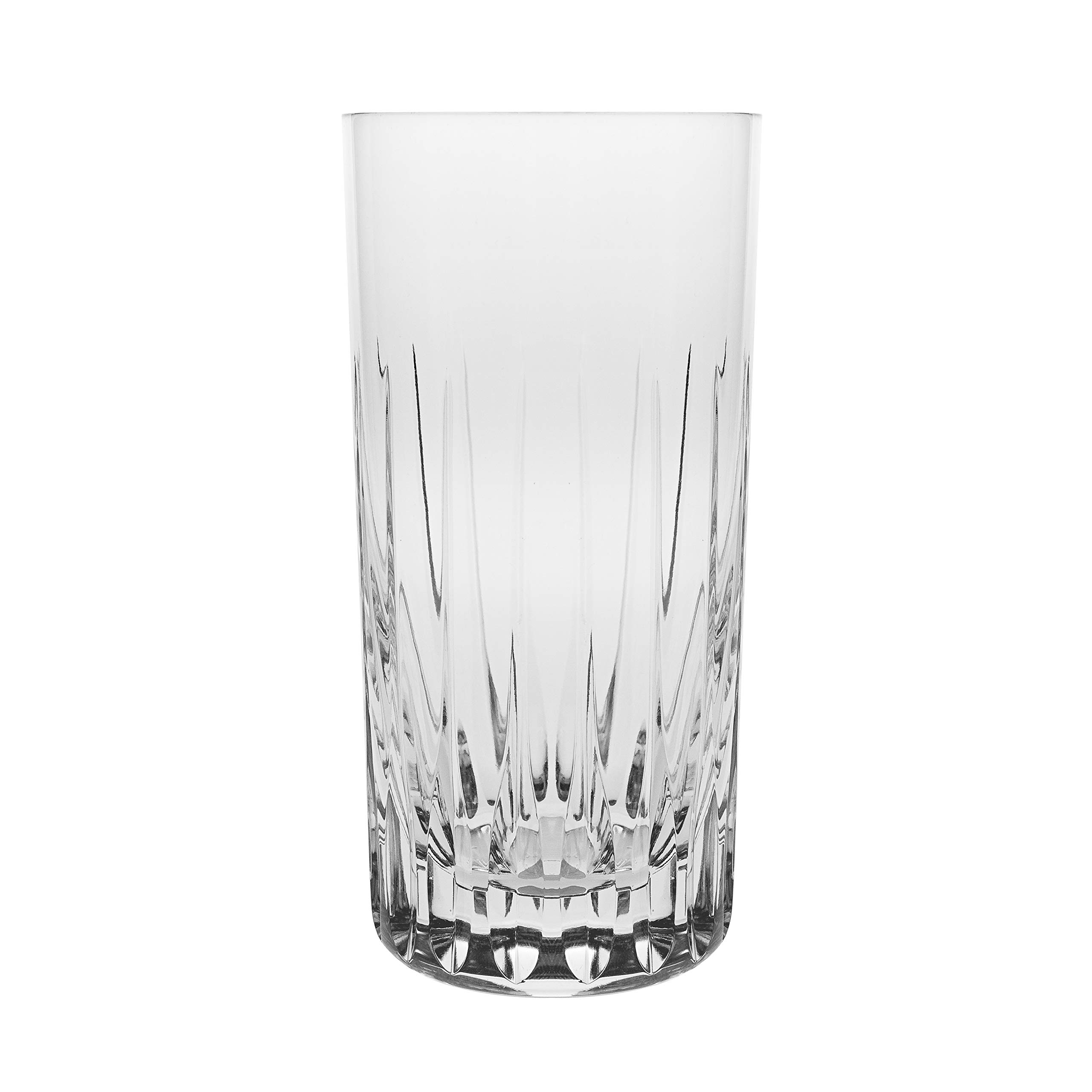 Barski - Set of 6 - Mouth Blown - Hand Cut - Crystal Tumbler Glasses - Highball- Hiball Tumblers - Each Glass is 16 oz. - Uniquely Designed - Made in Europe by Barski (Image #1)
