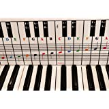 Piano and Keyboard Note Chart, Use Behind the Keys, Ideal Visual Tool for Beginners Learning Piano or Keyboard, Easy to Set U