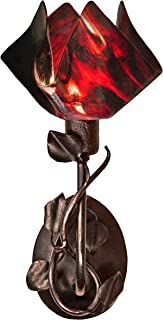 product image for Jezebel Signature BRSC-BBH-MA-FP12-AZA Flame Style Brown with Brown Highlights Branch Sconce with Magnolia Leaves, Azalea