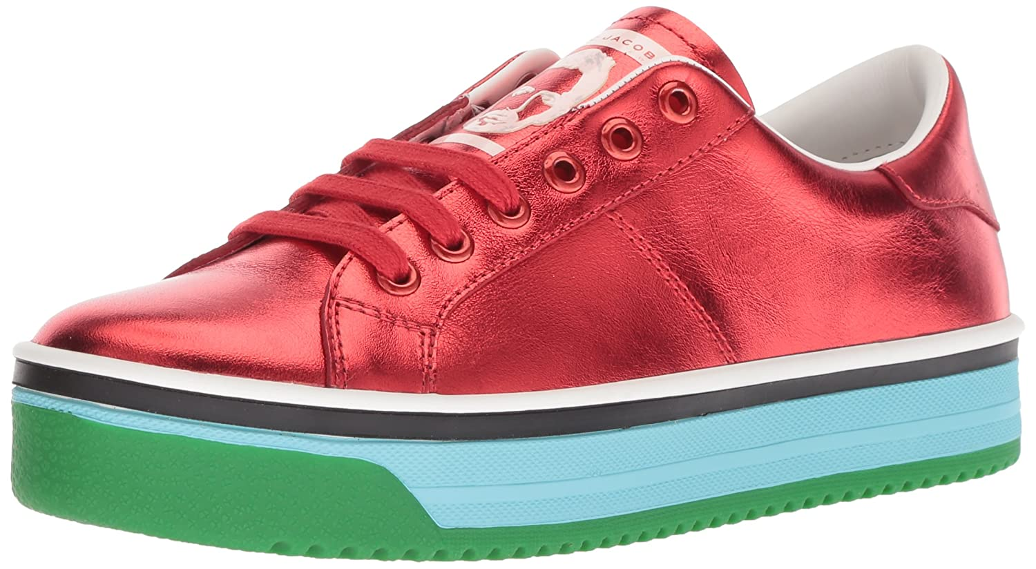 Marc Jacobs Women's Empire Multi Color Sole Sneaker B0781Z7TPS 36 M EU (6 US)|Red/Multi