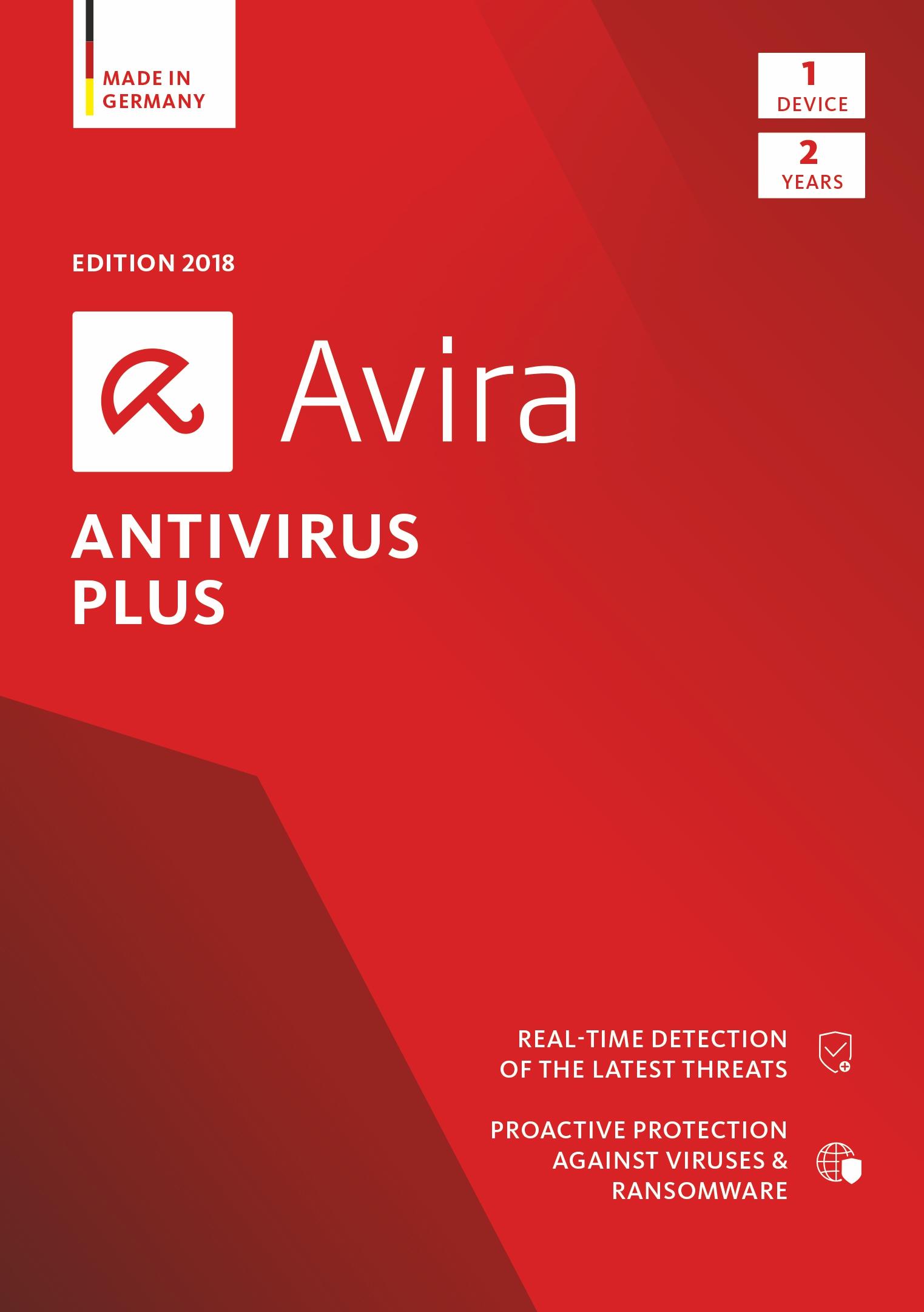 Avira Antivirus Plus 2018 | 1 Device | 2 Year | Download [Online Code] by Avira