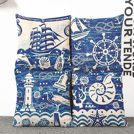 Kissenh/ülle lameida quadratisch dekorativer /Überwurf-Kissenbezug Casehome Sofa Bed Blue Sea Fashion-Color 45/x 45/cm style-1 45*45cm
