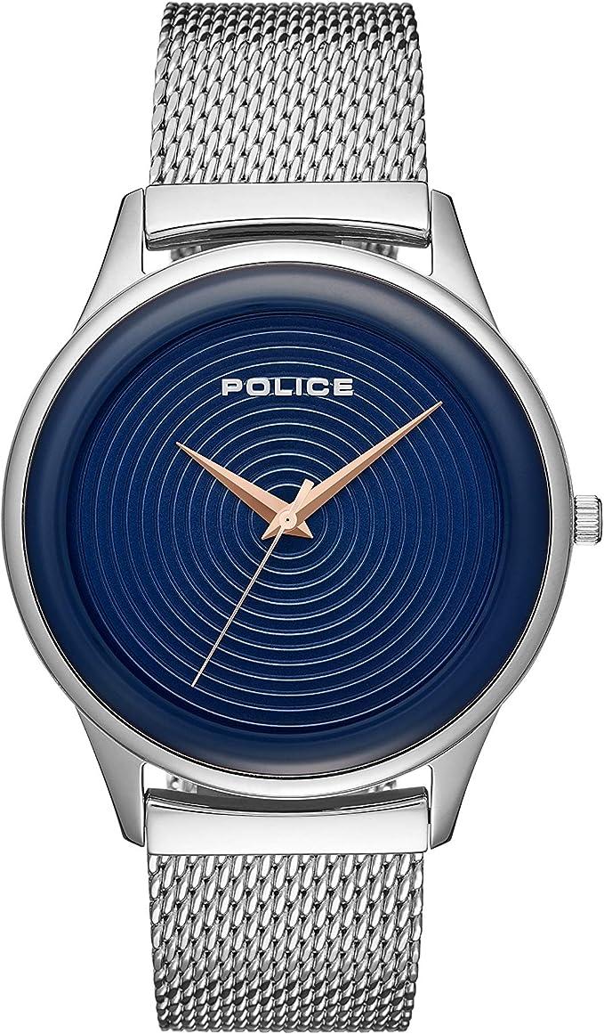 Police orologio analogico quarzo uomo con cinturino in acciaio inox pl.15524js/03mm