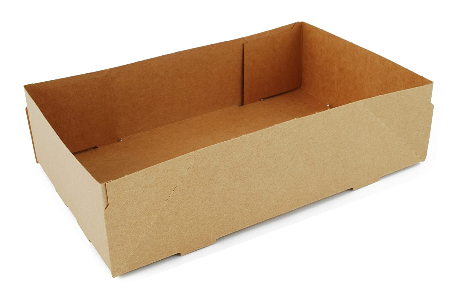 Southern Champion Tray 0122 Kraft Paperboard 4 Corner Pop Up Food Tray, 8-5/8
