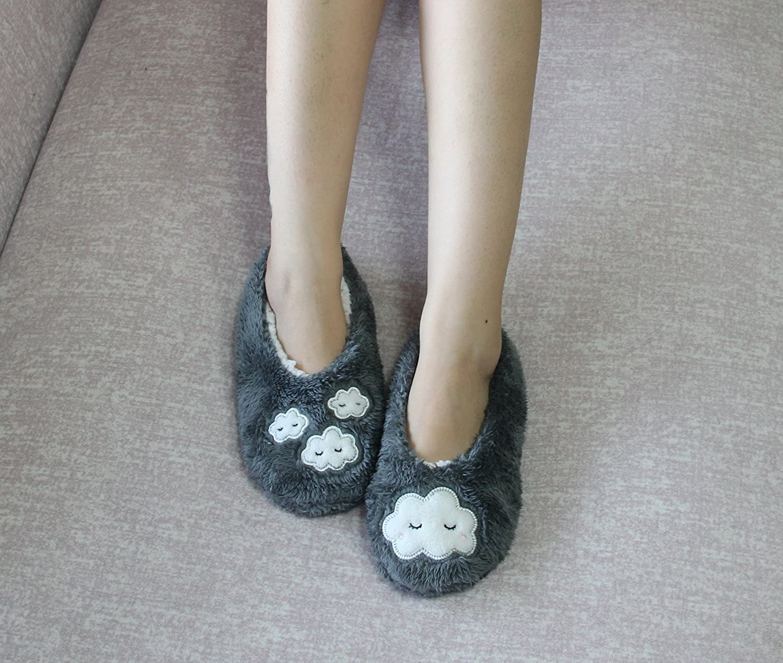 Home Slipper Cozy Fleece Christmas Stockings,Women\'s Non-Slip ...