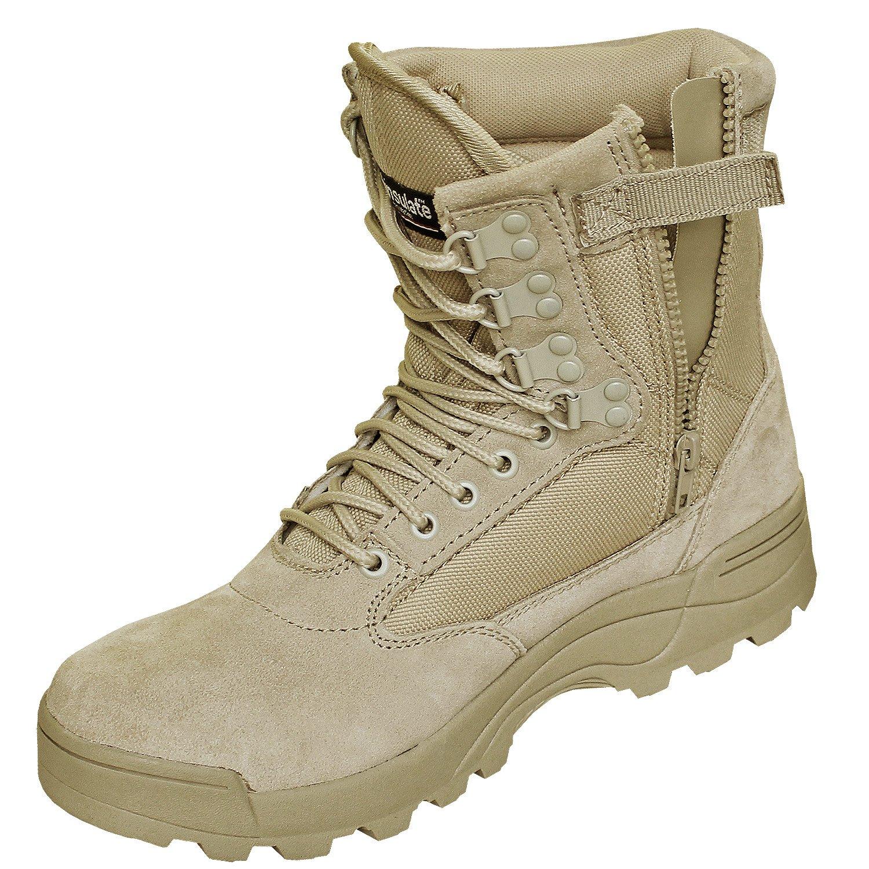 Brandit SWAT Tactical Boot Zipper Zipper Zipper Schwarz Sand mit Zipper e7701a