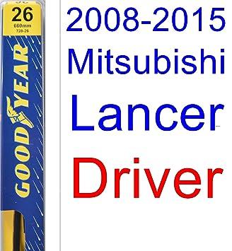 Amazon.com: 2008-2015 Mitsubishi Lancer Wiper Blade (Driver) (Goodyear Wiper Blades-Premium) (2009,2010,2011,2012,2013,2014): Automotive