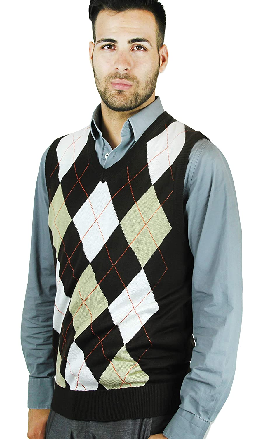 Blue Ocean Argyle Sweater Vest SV-2555