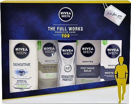 Juego de regalo Nivea Men The Full Works para él con 5 artículos ...