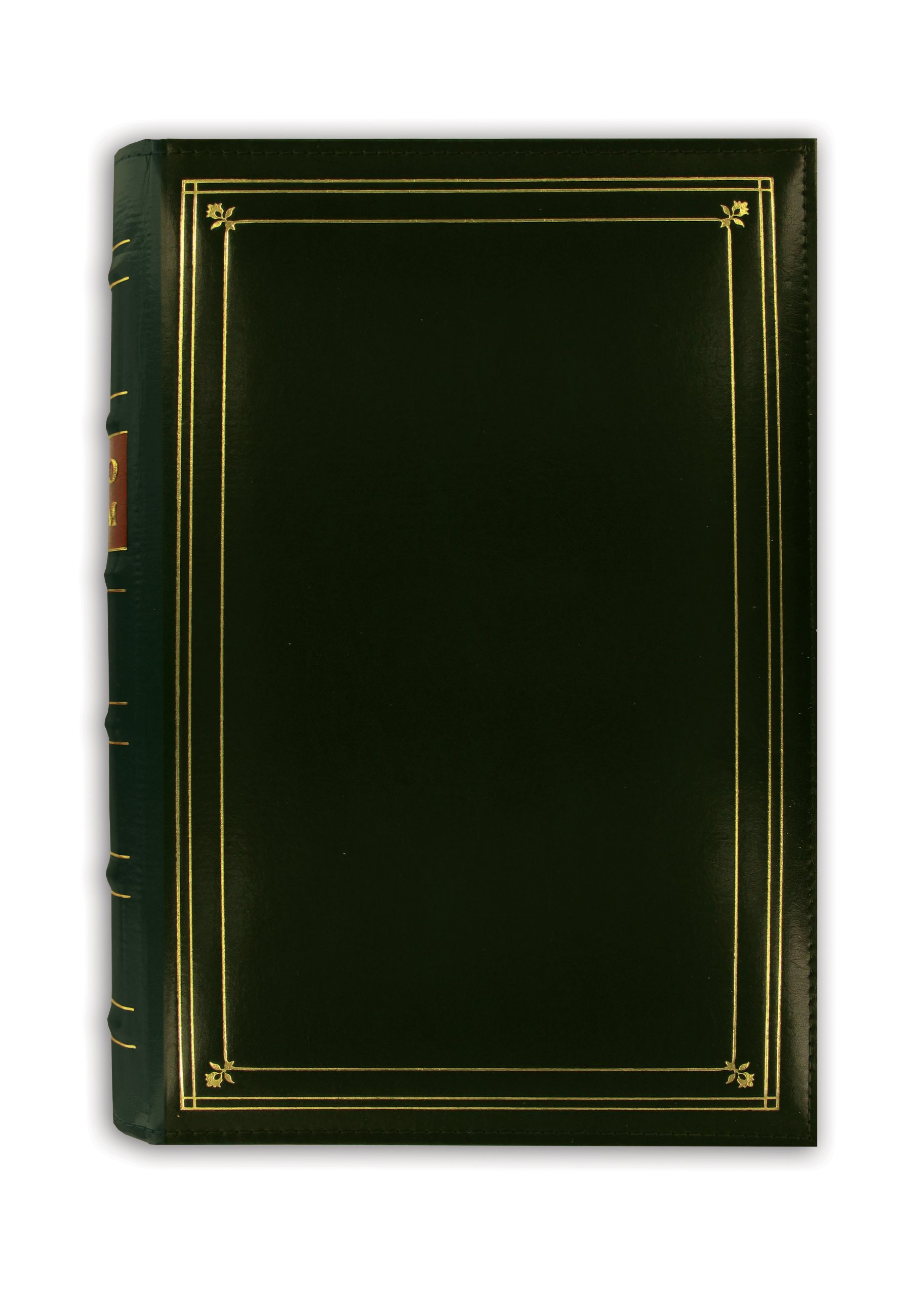 Pioneer Photo 204-Pocket Ring Bound Photo Album for 4 by 6-Inch Prints, Hunter Green Bonded Leather with Gold Accents Cover by Pioneer Photo Albums