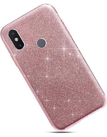 Glitter Carcasa Compatible con Xiaomi Mi A2 Lite/Redmi 6 Pro Funda Brillante Brillo Purpurina