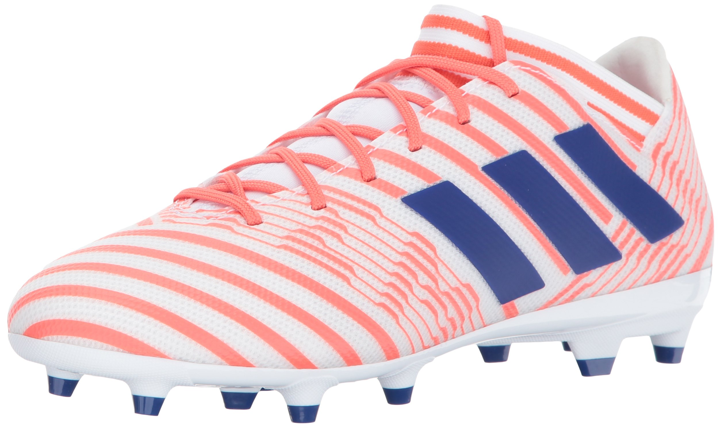 adidas Women's Nemeziz 17.3 FG W Soccer Shoe, White/Mystery Ink/Easy Coral, 7 Medium US