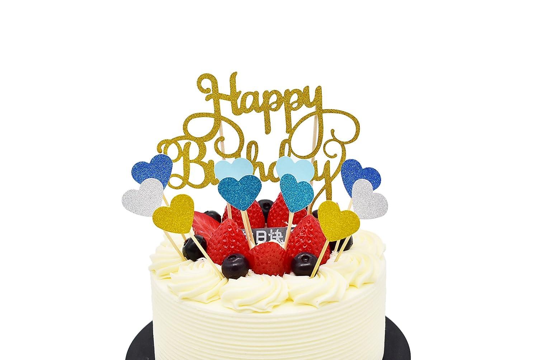 Happy Birthday Tiere Waldparty Girlande Kuchendekoration Cake