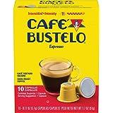 Cafe Bustelo Dark Roast Coffee, Capsules for Machines, Espresso, 40 Count