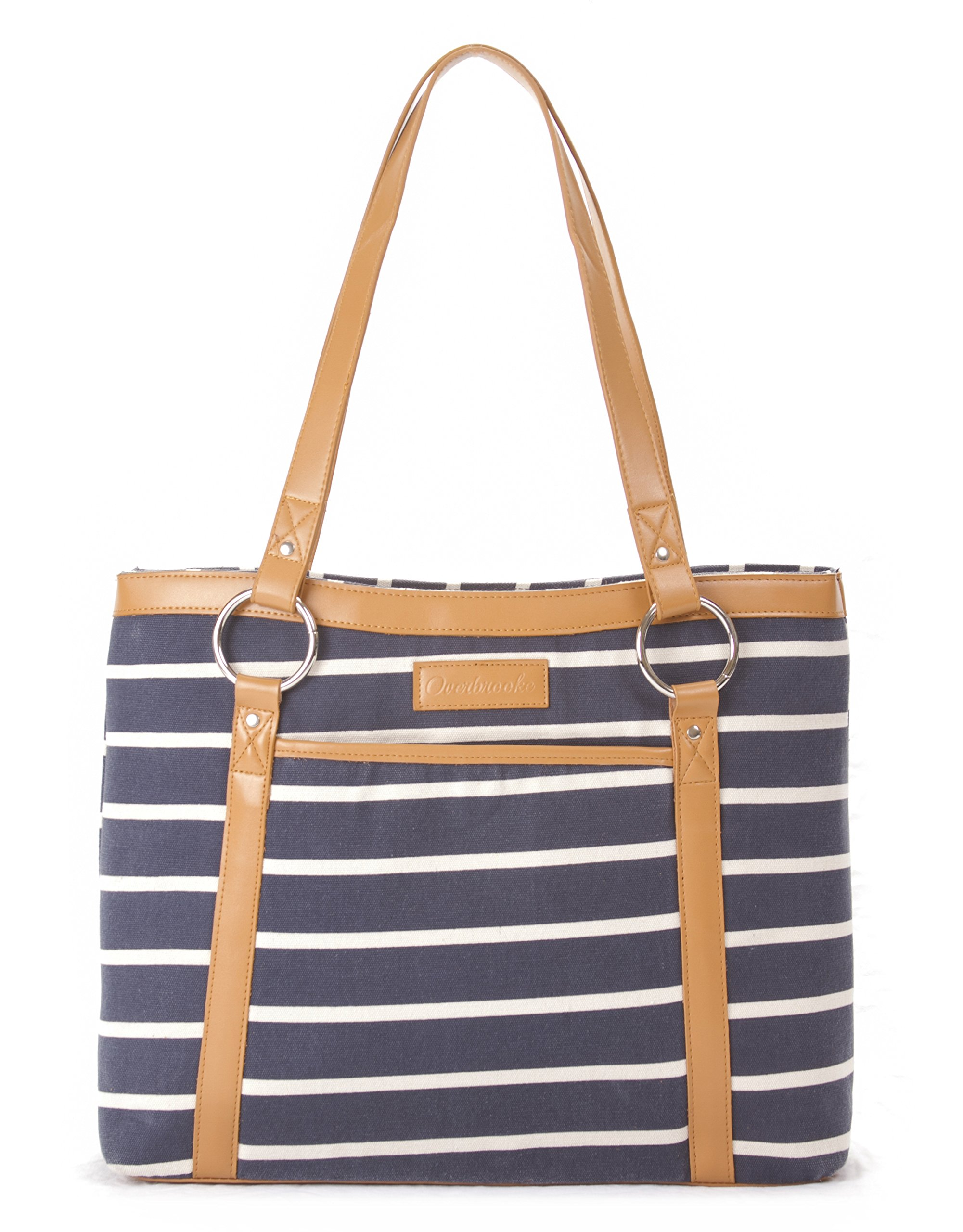 Overbrooke Classic Canvas Laptop Tote Bag - Womens Shoulder Bag for Laptops up to 15.6 Inches
