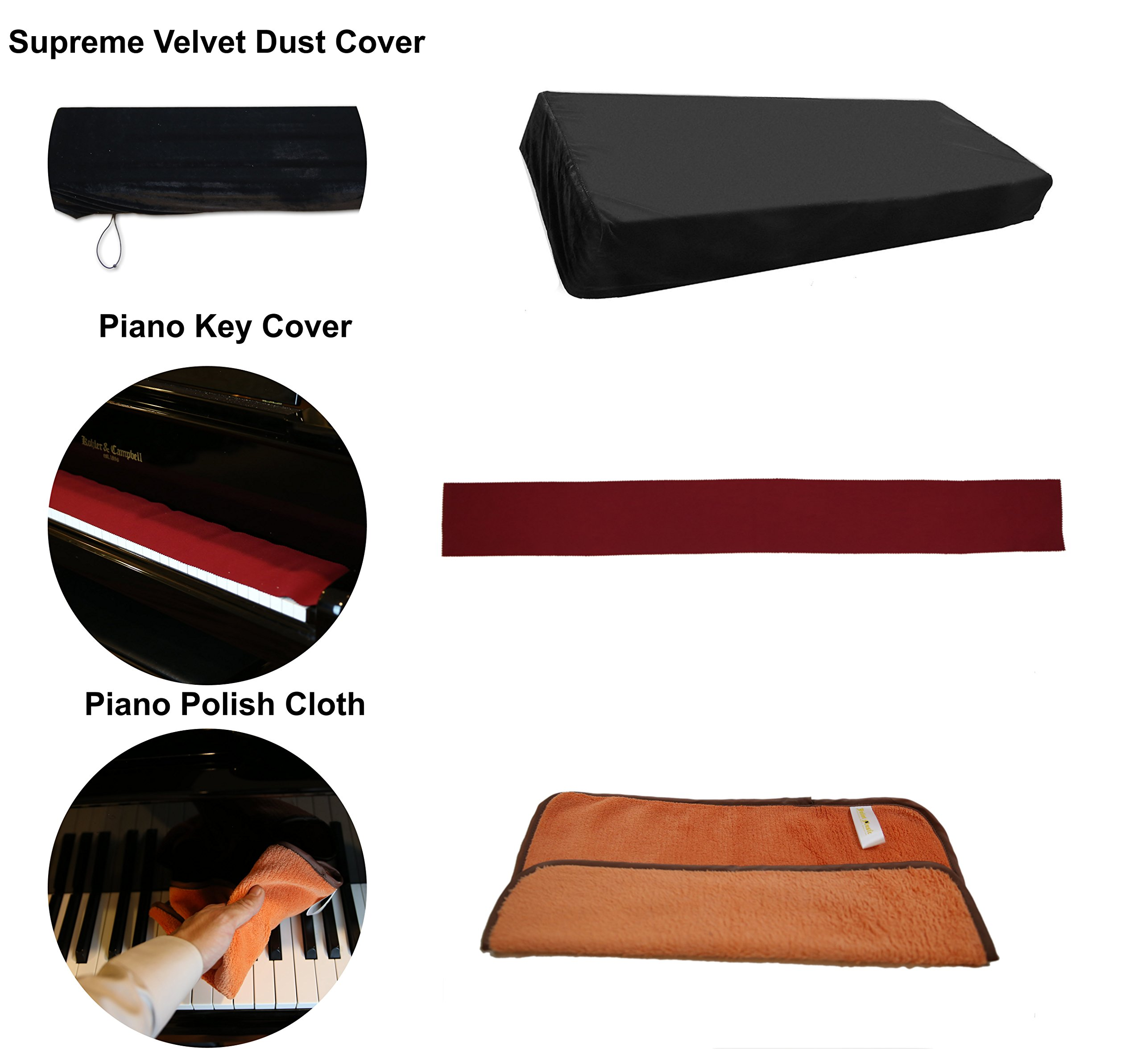 Yamaha P45B Black 88 Weighted Keys Digital Piano keyboard Bundle with Juliet Music Piano Dust Cover, Key Cover, Polish Cloth and Manuscript Book by Yamaha (Image #5)