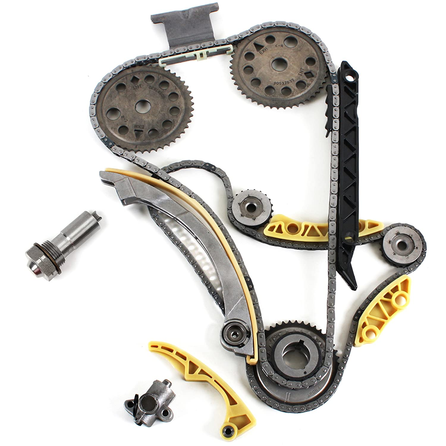 "Amazon.com: TK5090BSK Brand New (148 LINKS) Timing Chain Kit w/Latest  (Updated) Style Tensioner + Balance Shaft Set ""DOHC"" Ecotec Engine ""Z22SE  L61 L42 LSJ ..."