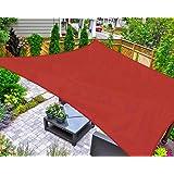 AsterOutdoor Sun Shade Sail Rectangle 6' x 10' UV Block Canopy for Patio Backyard Lawn Garden Outdoor Activities, Terra