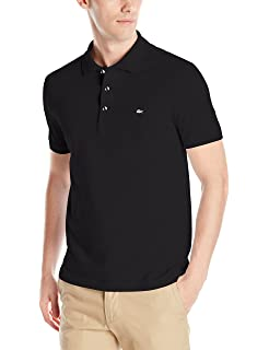 ce8161818f Lacoste Men's Short Sleeve Stretch Grey Croc Pique Polo, PH4014 at ...
