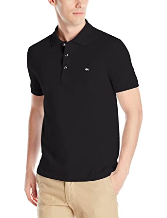 78d9ef87b0e9 Lacoste Men's Short Sleeve Slim Fit Stretch Petit Piqué Polo, Black, Small