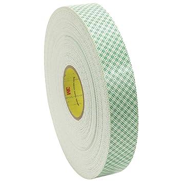 "3 M 4016 Poliuretano espuma cinta adhesiva de doble cara, 1/16 """
