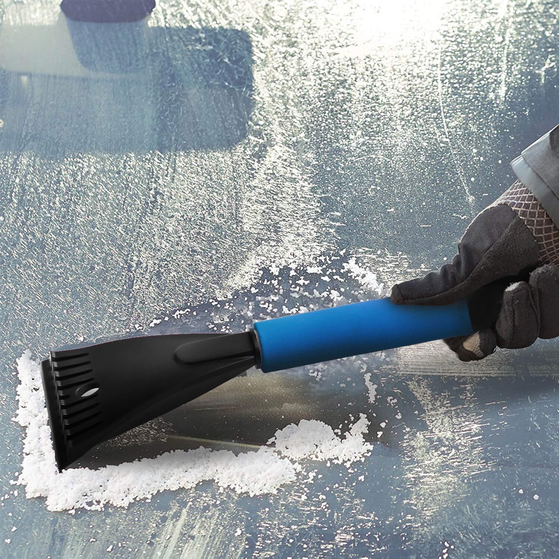 Blau WIN.MAX Eiskratzer /& Schneeb/ürste 2in1 mit Rutschfestem Komfort-Griff Auto Scheibenreiniger Schnee-Entferner und Enteiser