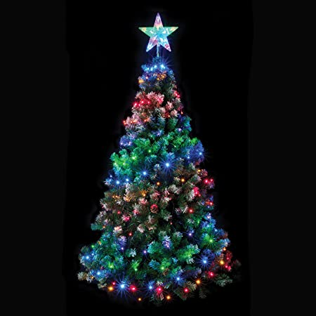 160 Multi Coloured Led Chasing Net Light With Star For Your Tree