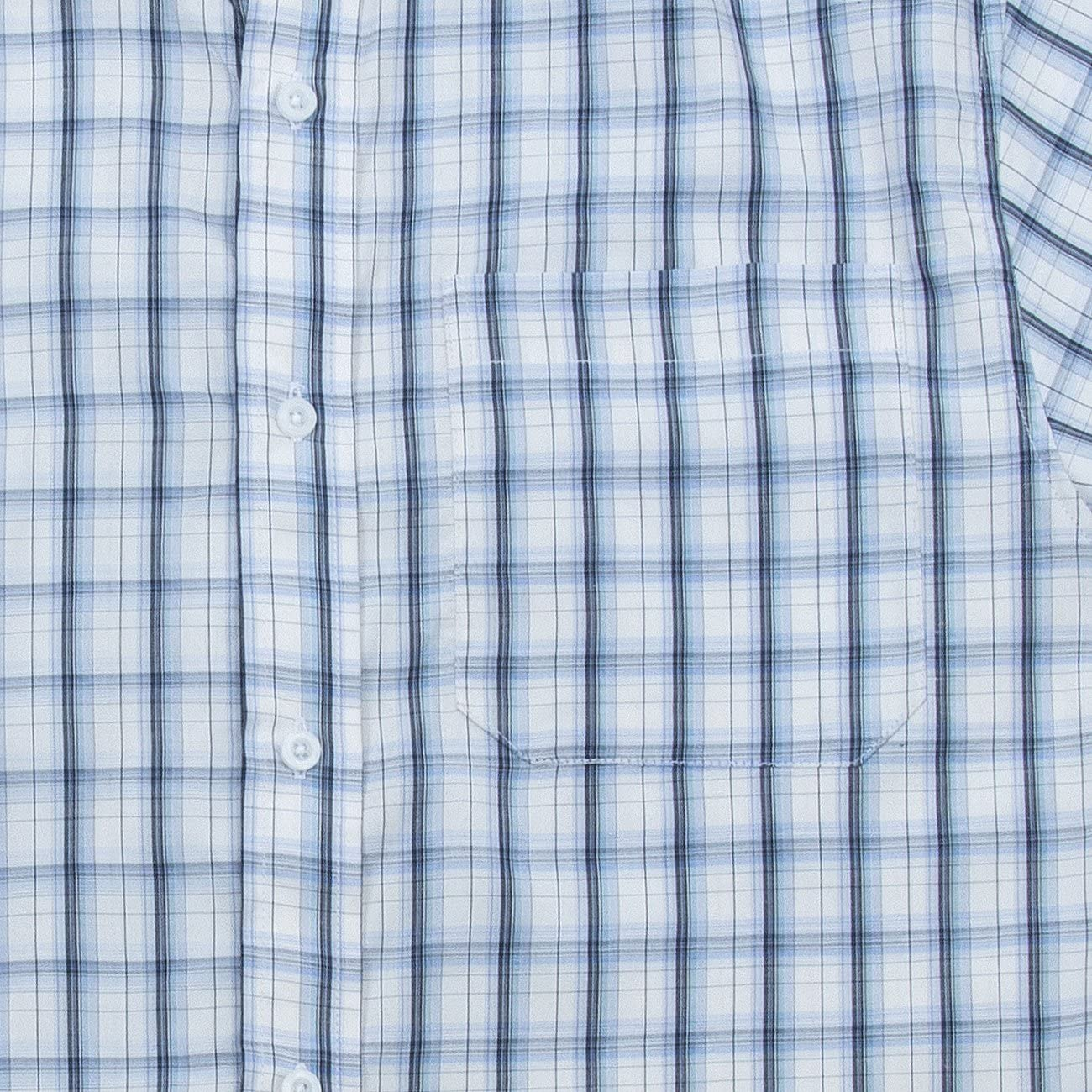 Pierre Roche Mens Yarn Dyed Checked Shirt Short Sleeve Work