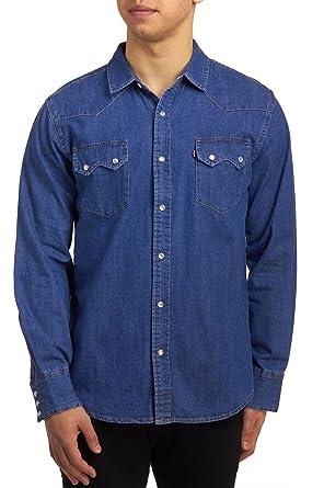 2982db9d Levi's Men's Sawtooth Western Denim Snap Shirt, Authentic Stonewash, ...