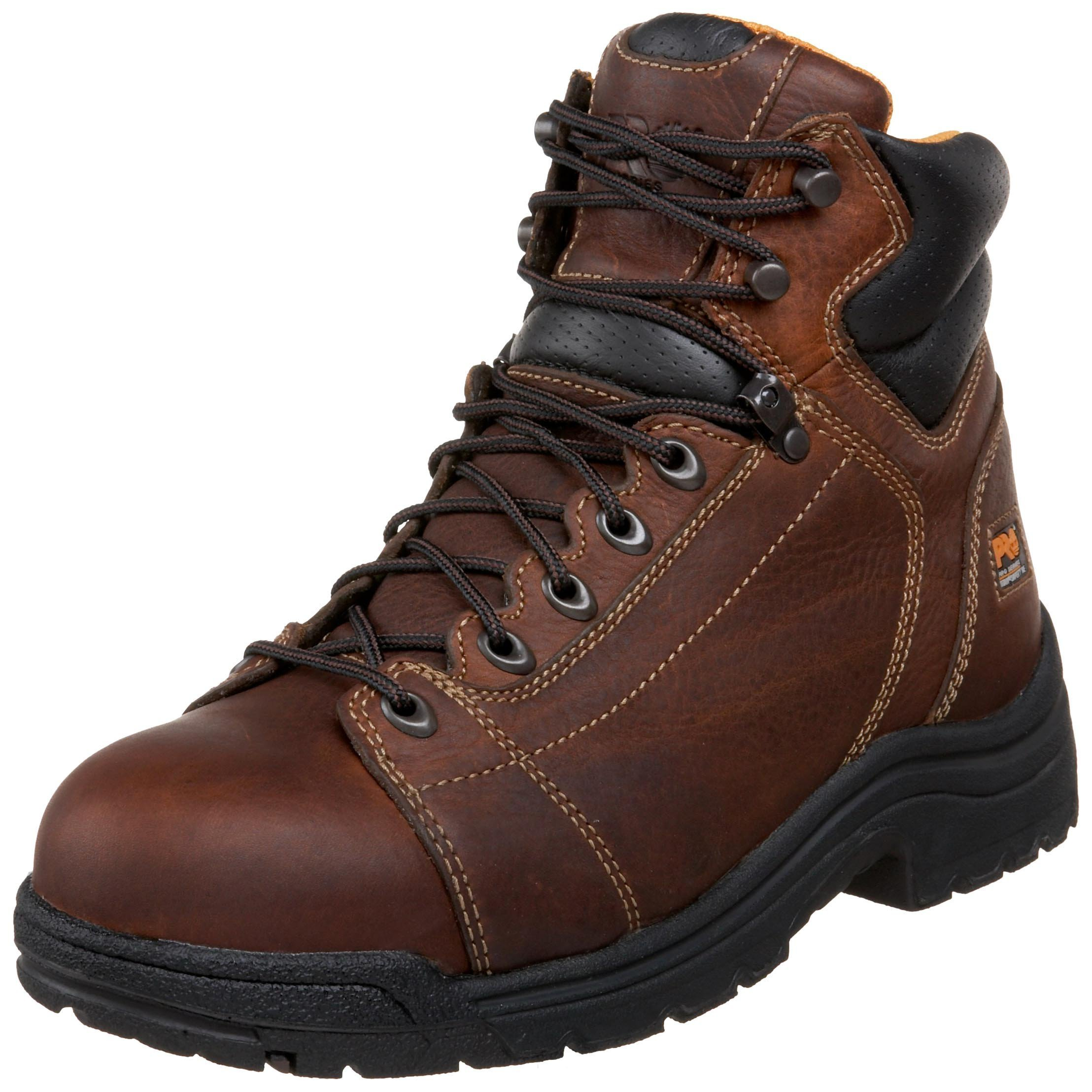 Timberland PRO Men's 50506 Titan 6'' Lace to Toe Safety Toe Boot,Haystack Brown,12 M