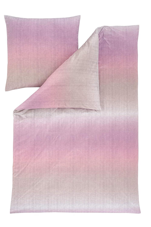 Estella Mako Interlock Jersey Bettwäsche Nicolas holunder 155x220 cm + 80x80 cm