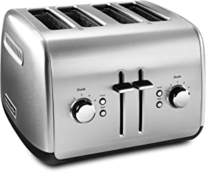 KitchenAid KMT4115SX Stainless Steel Toaster, Brushed Stainless Steel (Renewed)