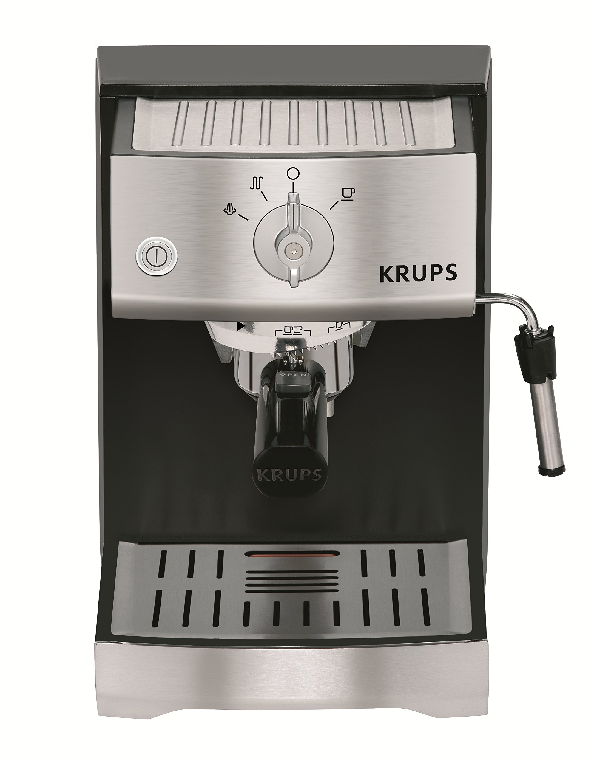 KRUPS XP5220 Pump Espresso Machine with KRUPS Precise Tamp Technology and Stainless Steel Control Panel, Black by KRUPS