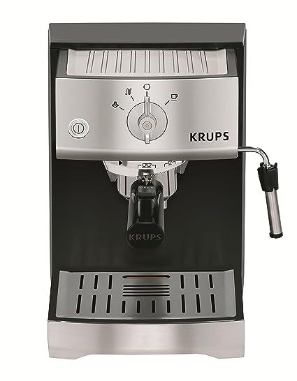 Krups XP5220 Máquina espresso 1.1L 2tazas Negro, Acero inoxidable - Cafetera (Máquina espresso