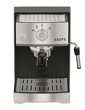 Krups XP5220 Máquina espresso 1.1L 2tazas Negro, Acero inoxidable - Cafetera (Máquina espresso, 1,1 L, 1400 W, Negro, Acero inoxidable): Amazon.es: Hogar